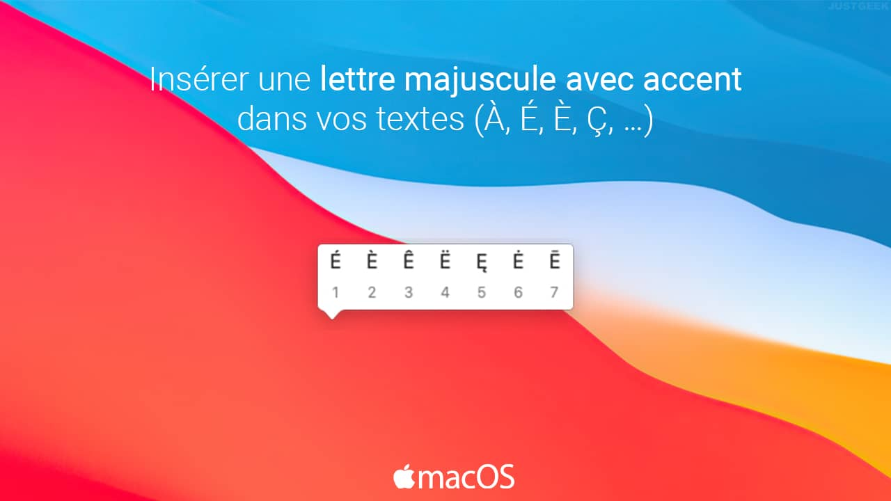 macOS : insérer une lettre majuscule avec accent sur Mac