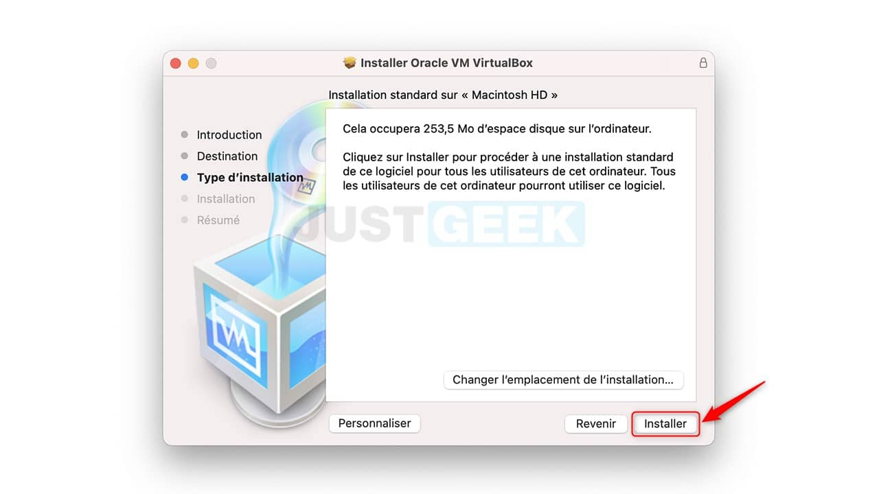 Installer Oracle VM VirtualBox sur Mac