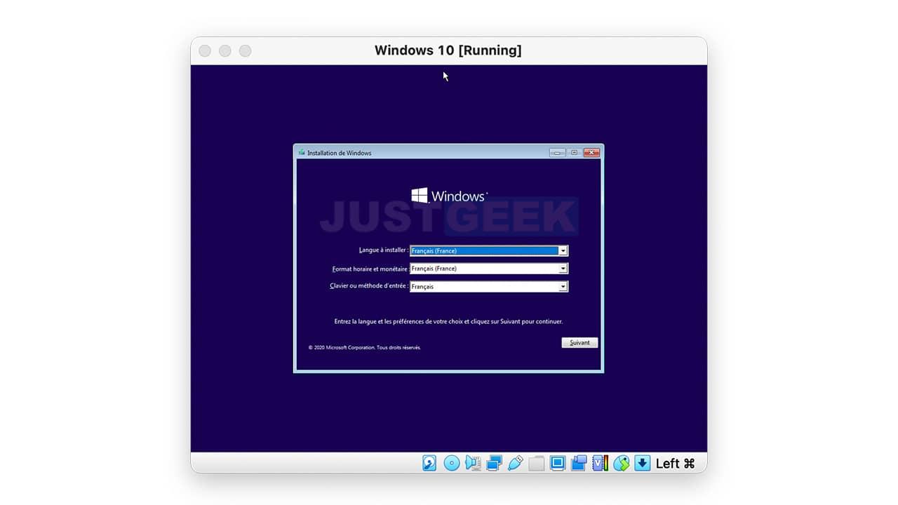Installer Windows 10 sur Mac dans une machine virtuelle