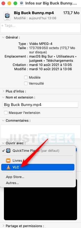 Modifier application par défaut pour un type de fichier sur Mac