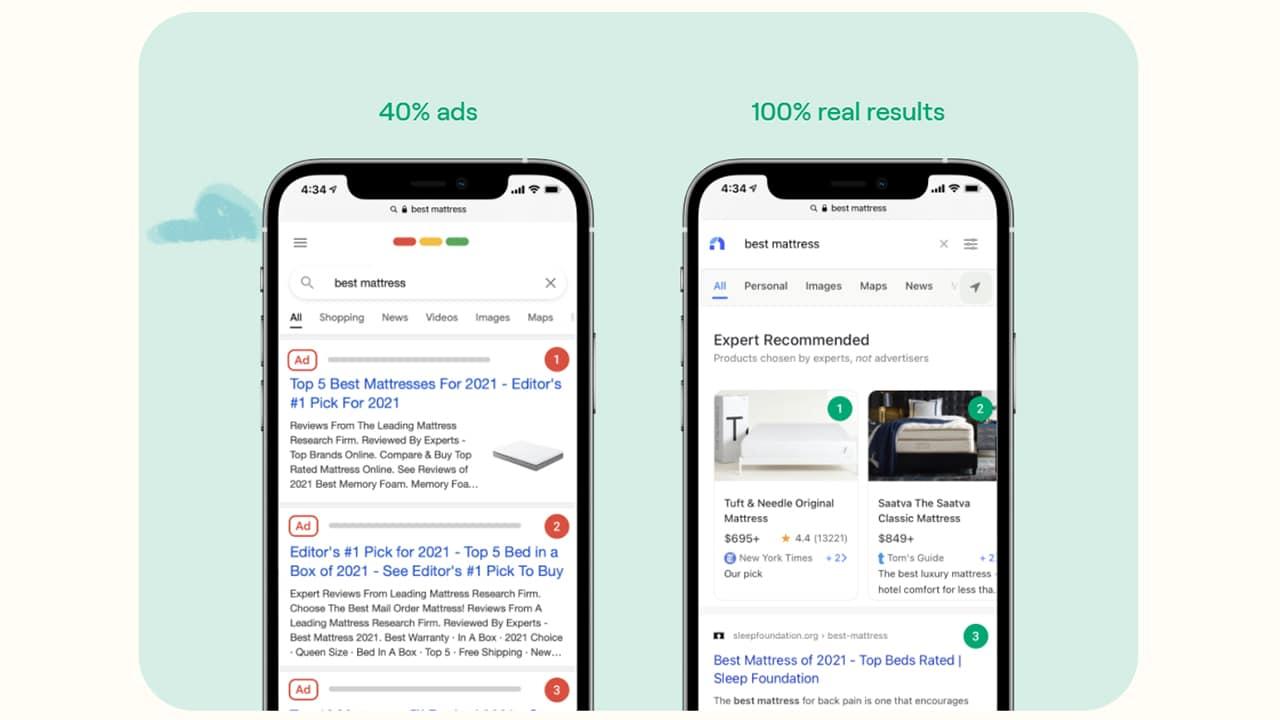 Neeva : moteur de recherche sans pubs