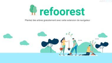 Planter des arbres gratuitement avec Refoorest