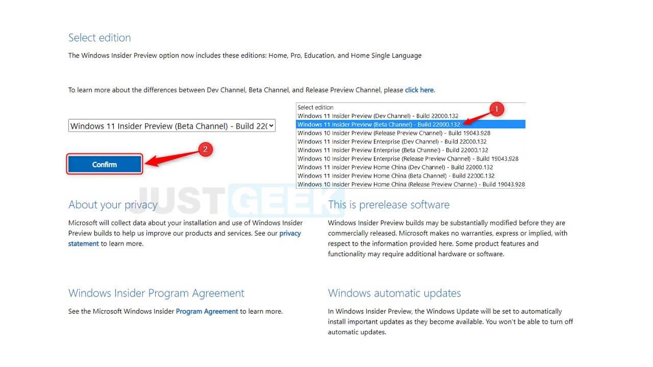 Télécharger Windows 11 Insider Preview (Beta Channel) - Build 22000.132