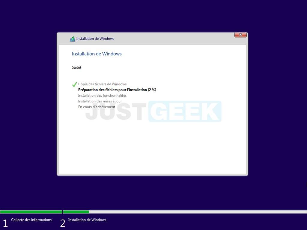 Installation de Windows 11 Beta