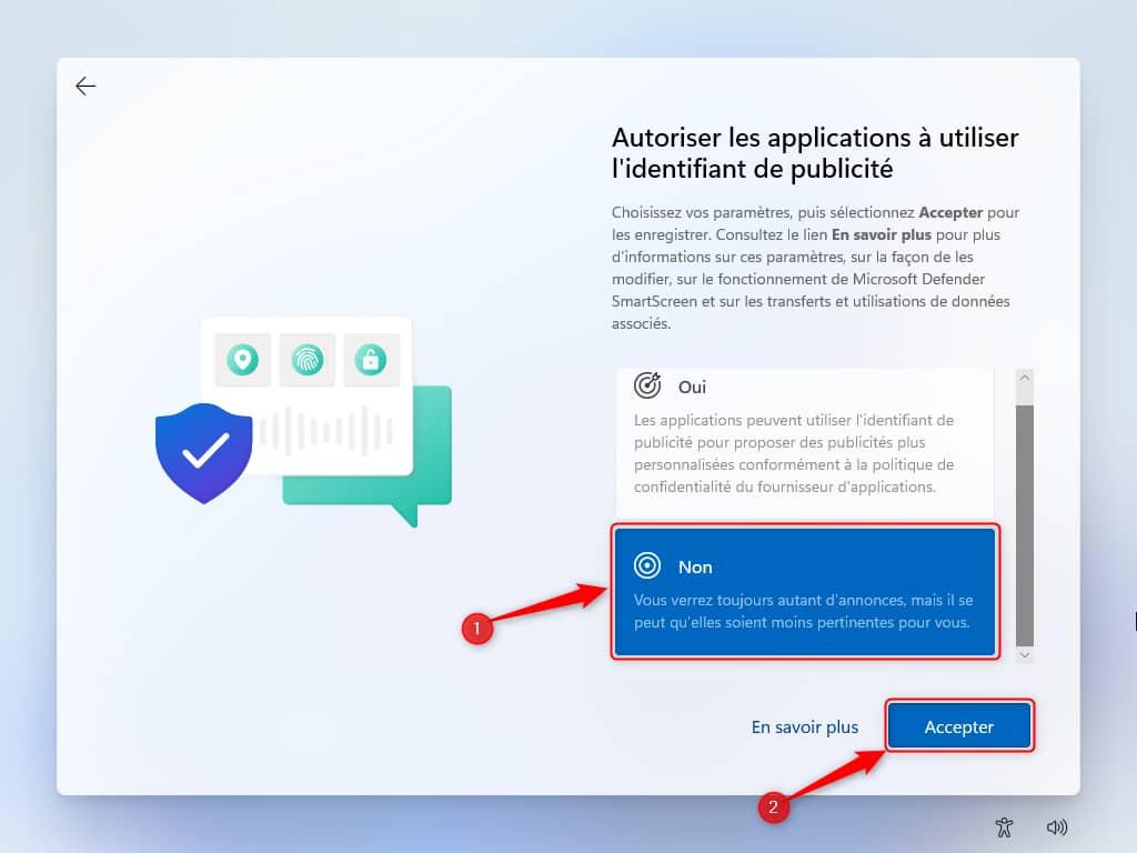 Autoriser les applications à utiliser l'identifiant de publicité dans Windows 11 Beta