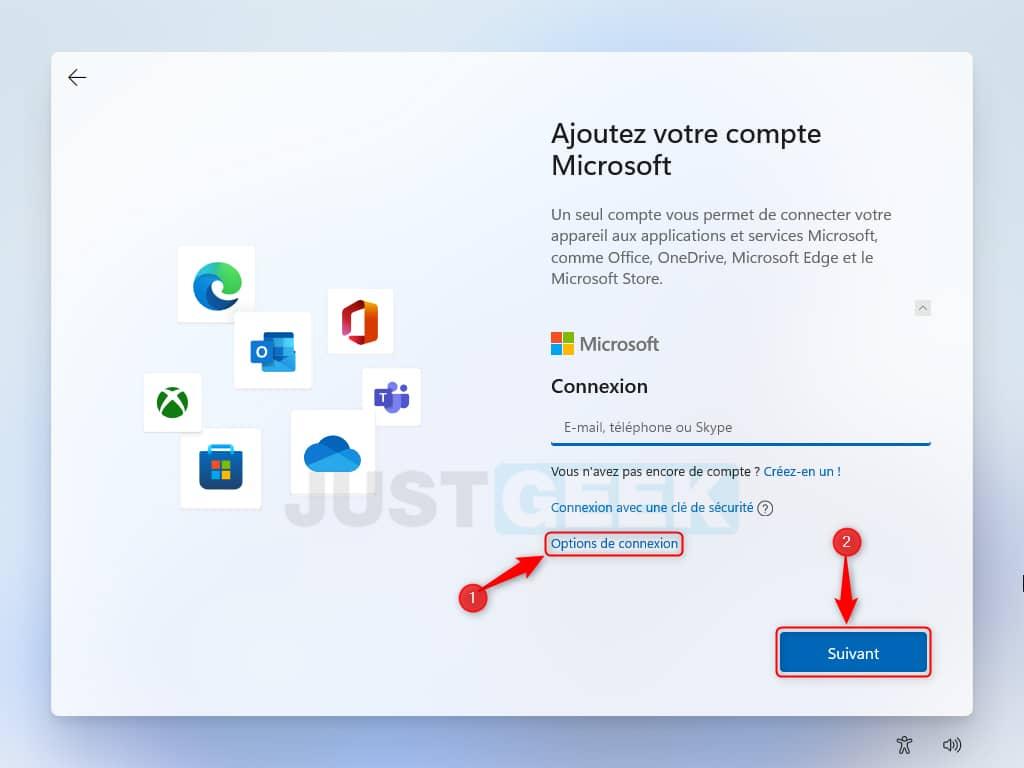 Créer un compte local pour Windows 11 Beta