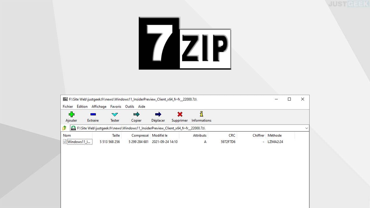7-zip : logiciel de compression de données gratuit et open source