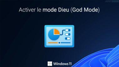 Activer le God Mode dans Windows 11