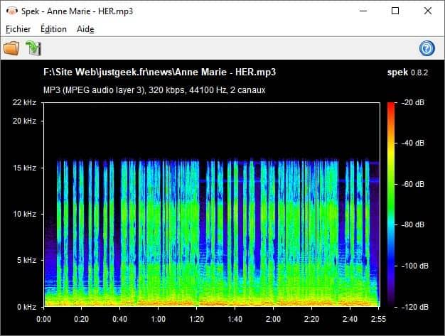 Connaître la véritable qualité audio de vos fichiers audio MP3, FLAC, etc. avec Spek