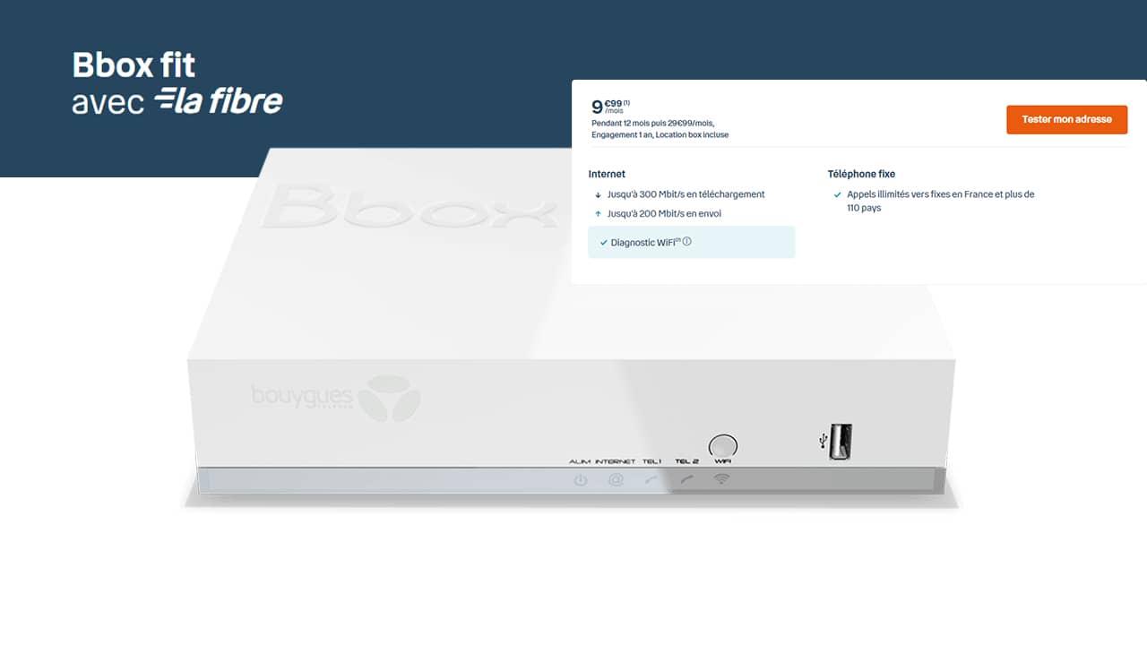 La Bbox fit de Bouygues Telecom à 9,99 €/mois pendant un an