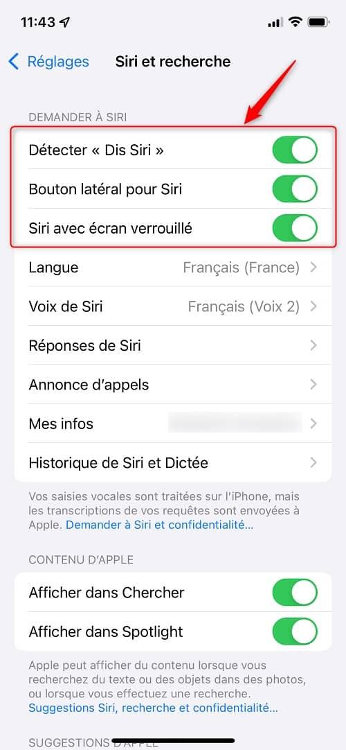Désactiver complètement Siri sur iPhone et iPad
