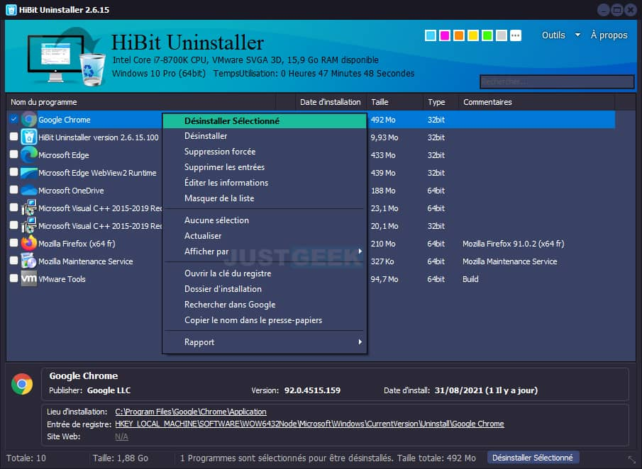 Désinstaller proprement des programmes avec HiBit Uninstaller