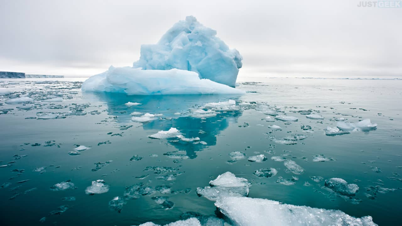 Fonte des glaces de la banquise de la banquise de l'Arctique