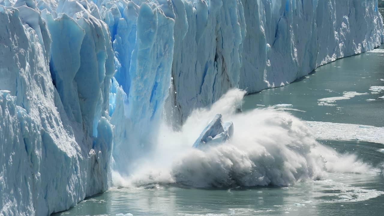 Fonte des glaces de l'Antarctique à cause du réchauffement climatique