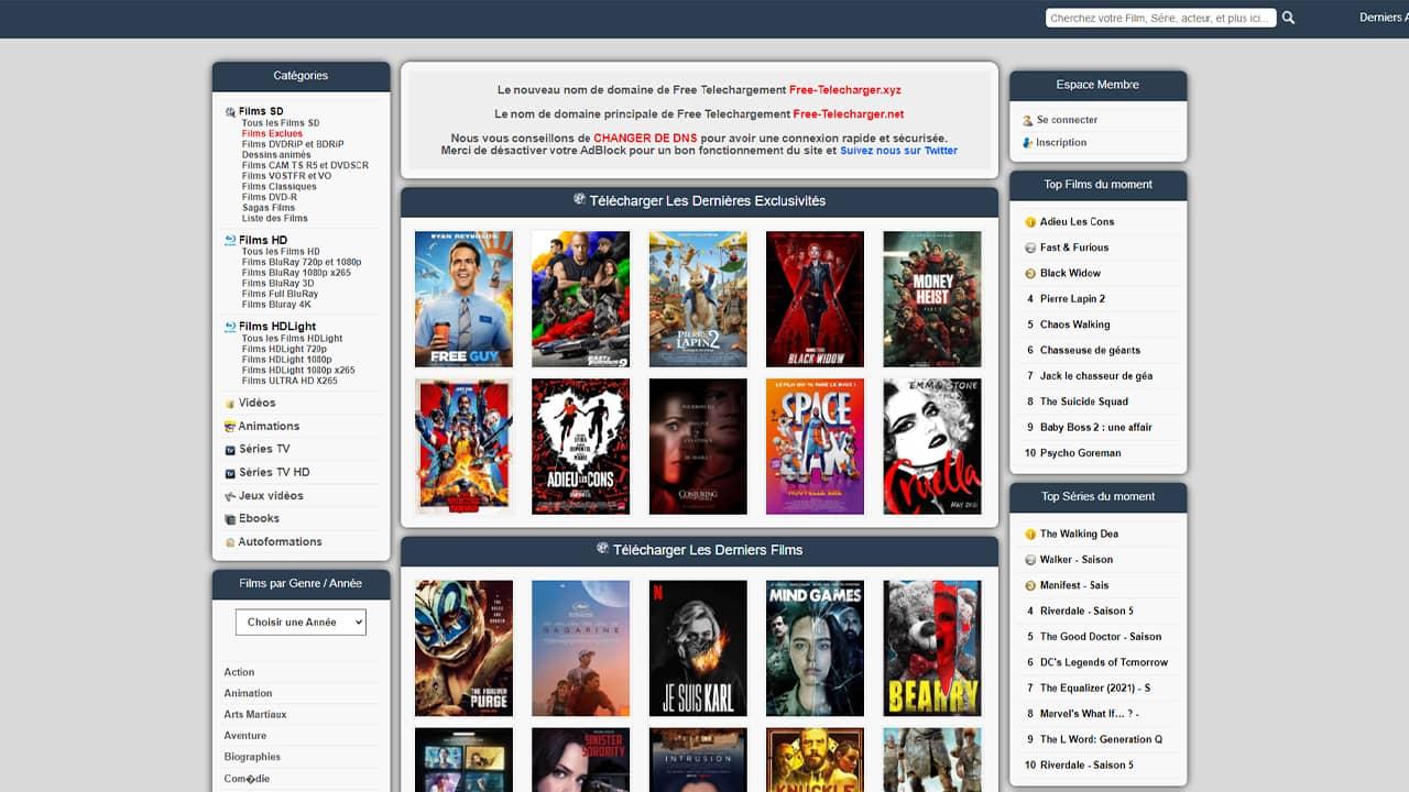Free-Telecharger, le nouveau site de téléchargement direct