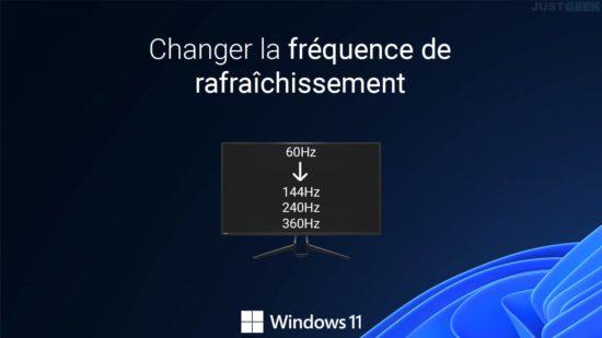 Changer la fréquence de rafraîchissement dans Windows 11