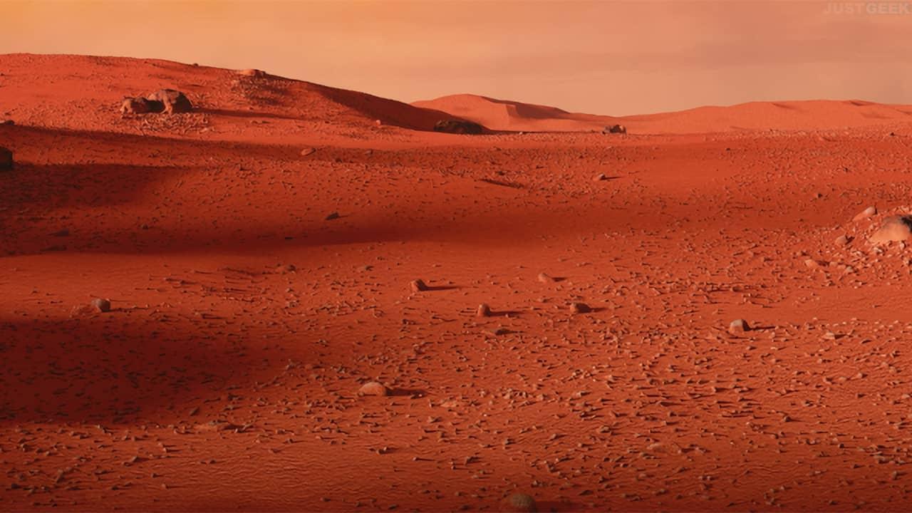 Désert panoramique Mars