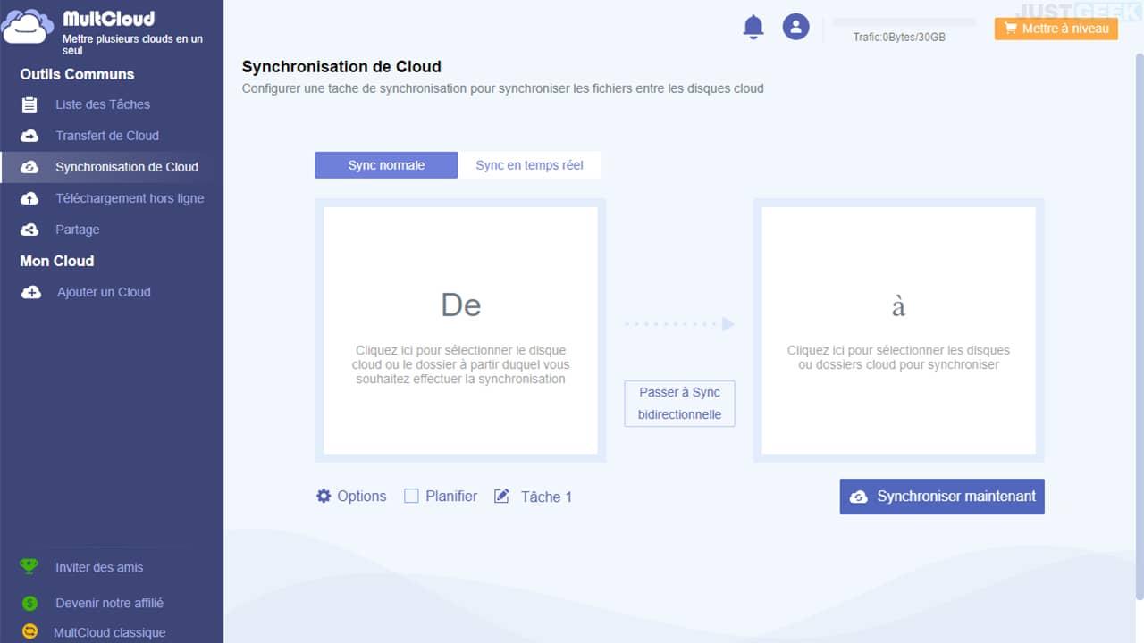 MultCloud : synchroniser des fichiers entre vos stockages Cloud
