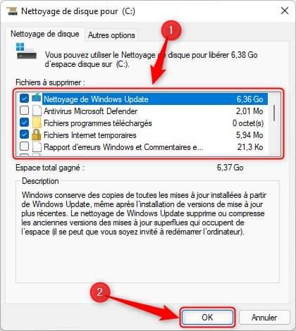 Supprimer les fichiers temporaires du système sur Windows 11