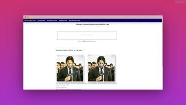 Une application Web pour transformer photo en dessin animé