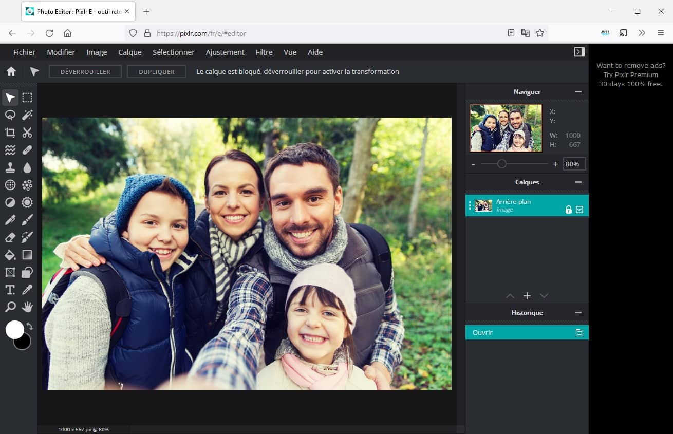 Pixlr E : un outil de retouche photo avancé