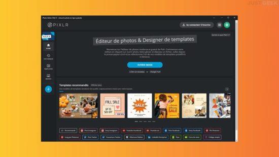 Pixlr : logiciel retouche photo gratuit