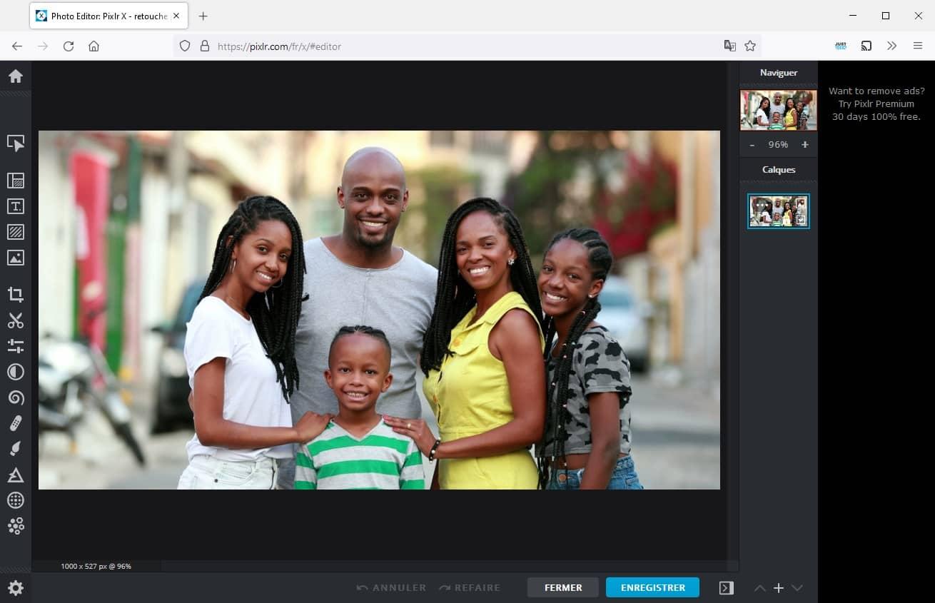 Pixlr X : retouche photo gratuit et en ligne
