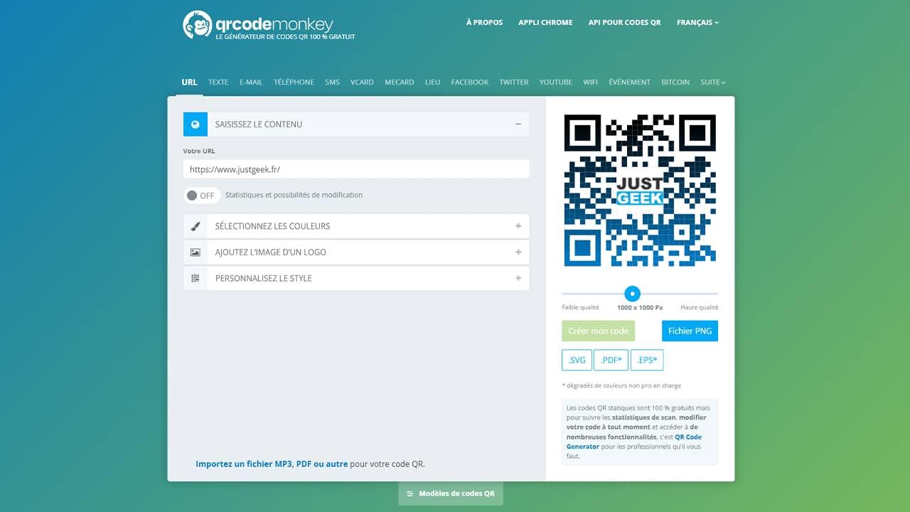 QRCode Monkey : un générateur de QR Code gratuit
