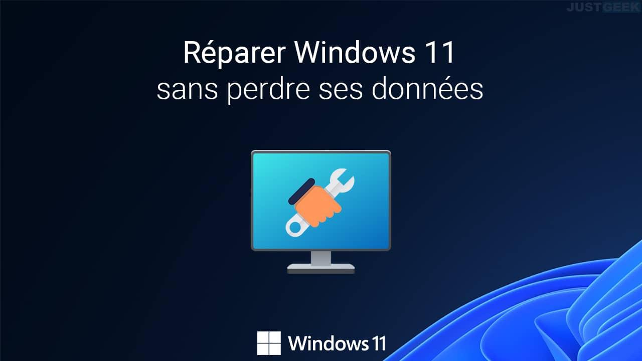 Réparer Windows 11 sans perdre ses données