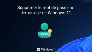Supprimer le mot de passe au démarrage de Windows 11