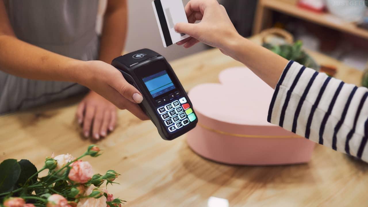 Terminal de paiement dans un commerce physique