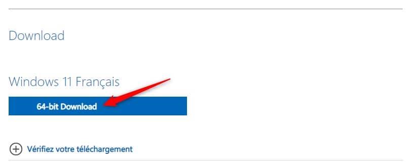 Télécharger l'image ISO Windows 11 en Français (64-bits)