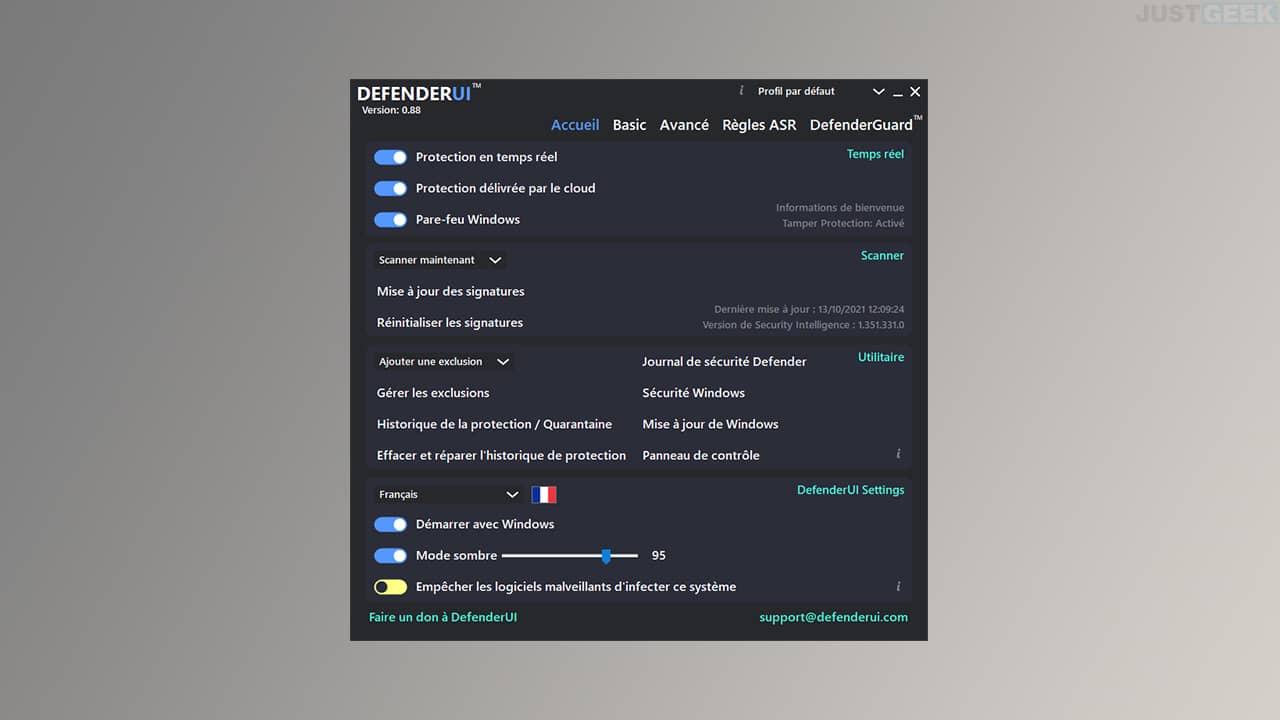 DefenderUI : améliorer l'interface de l'application Sécurité Windows