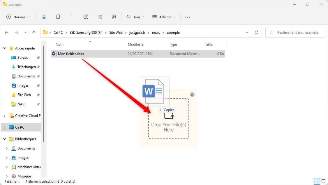 DropPoint : un logiciel gratuit qui facilite de glisser/déposer