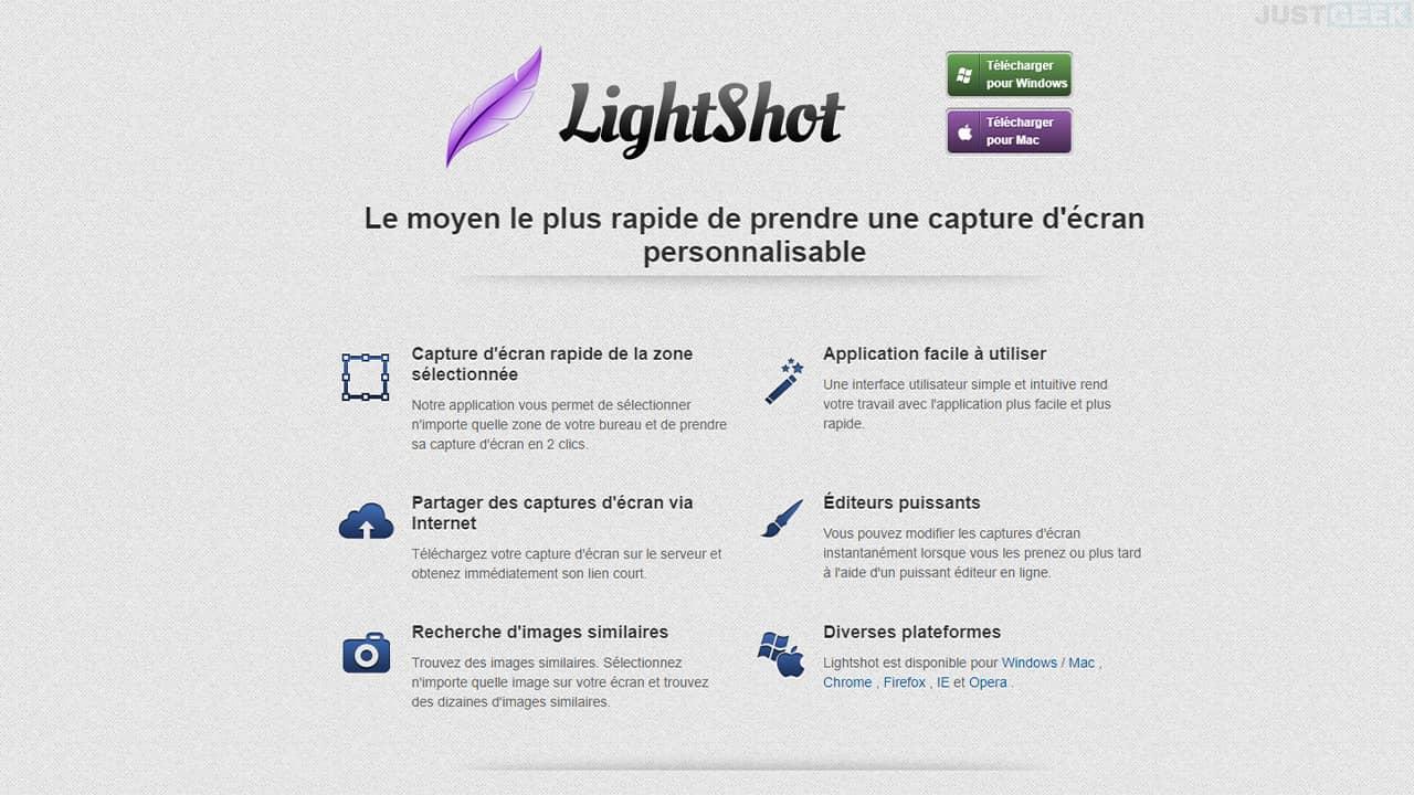 Faire une capture d'écran avec le logiciel gratuit LightShot