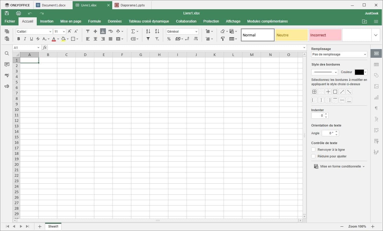 OnlyOffice Classeur