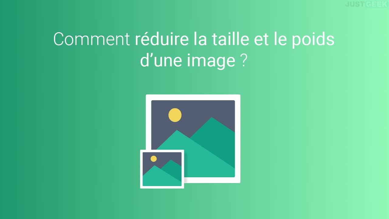 Réduire la taille et le poids d'une image