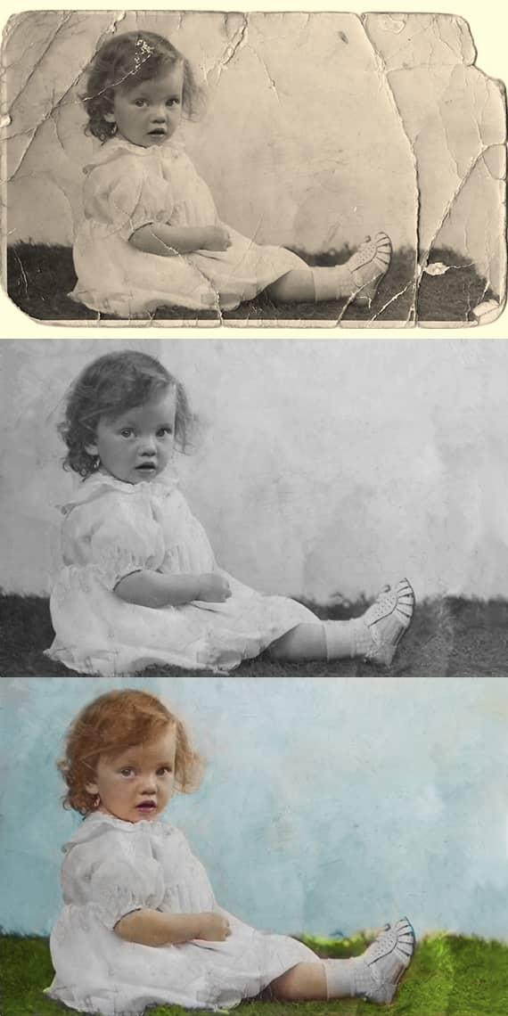 Restaurer une vieille photo avec le logiciel PhotoGlory
