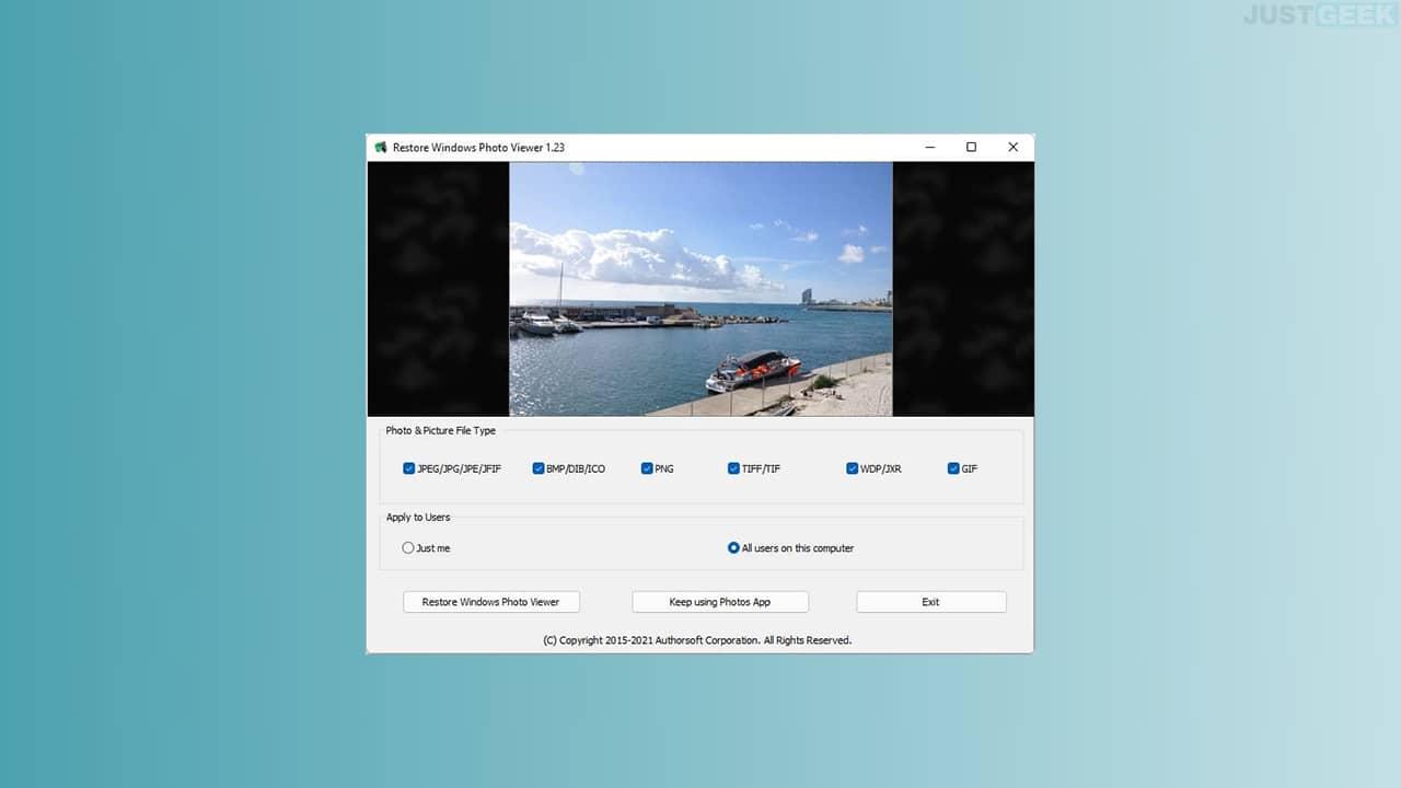 Restaurer la visionneuse de photos Windows sur Windows 11/10