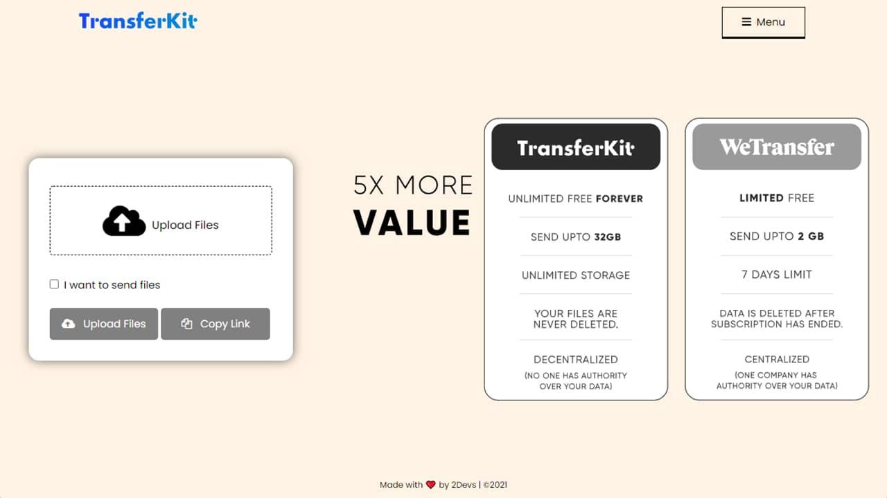 TransferKit : un service de transfert de fichiers décentralisé