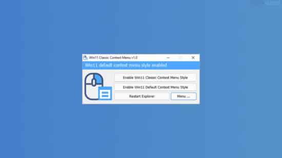 Restaurer facilement l'ancien menu contextuel dans Windows 11