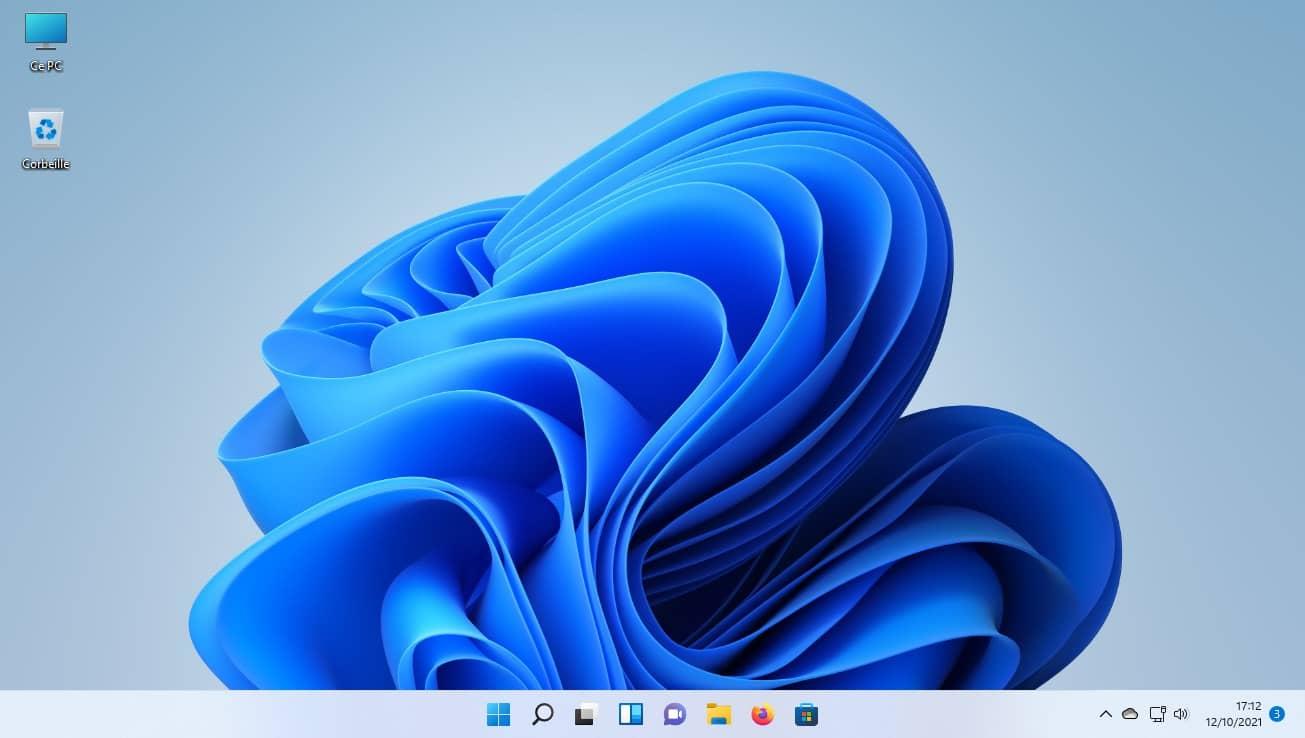 Interface de Windows 11