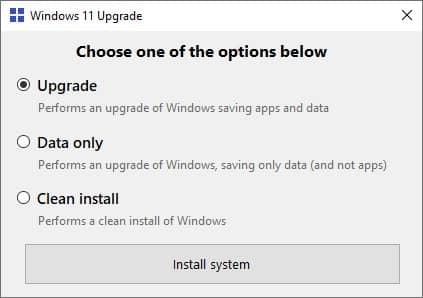 Installer Windows 11 sur votre PC sans TPM 2.0, ni SecureBoot avec Windows 11 Upgrade